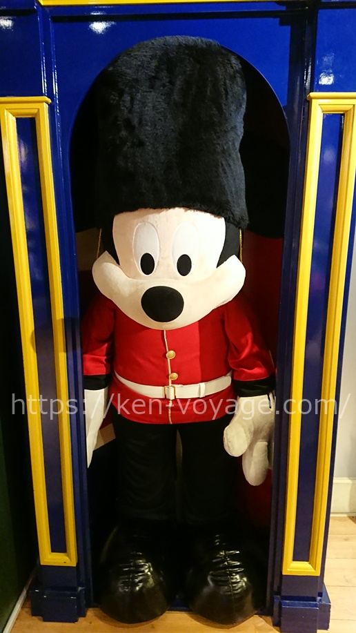 Mickey Mouse with guard costume