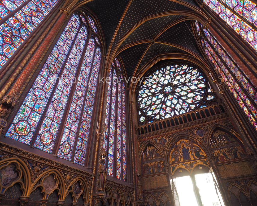 stained glass at Sainte Chapelle
