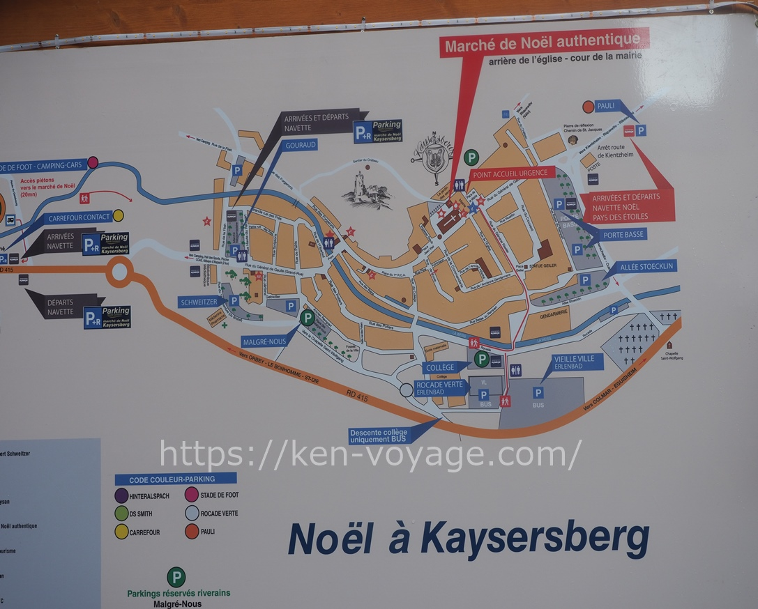 map of Kaysersberg
